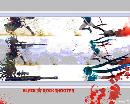 Обои Black Rock Shooter