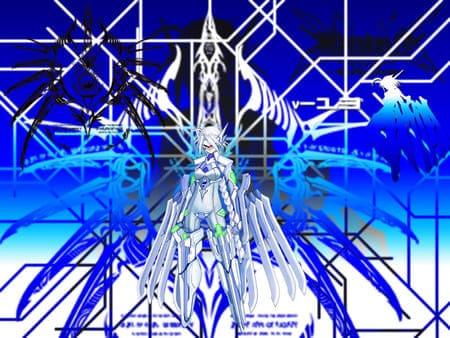 Синяя картинка с линиями для рабочего стола