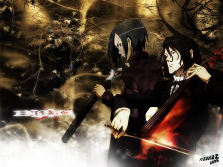 Обои из аниме Кровь с двумя героями
