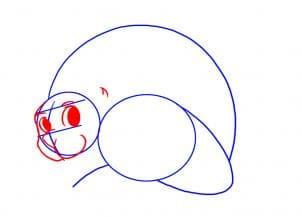 Как нарисовать дикобраза