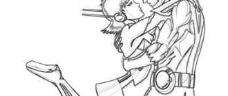 Человек муравей карандашом для срисовки