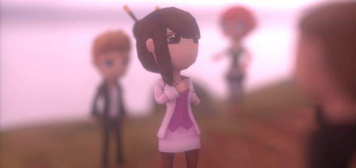 Девушка в видеоигре Woodsale