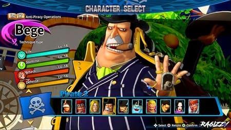 Персонаж One Piece Pirate warriors 4
