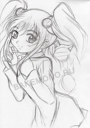 картинки аниме как рисовать: