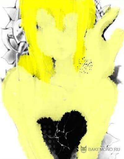 разукрашиваем волосы темно желтым цветом