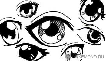 Разные стили рисования глаз
