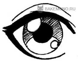 Нарисовать анимешный глаз