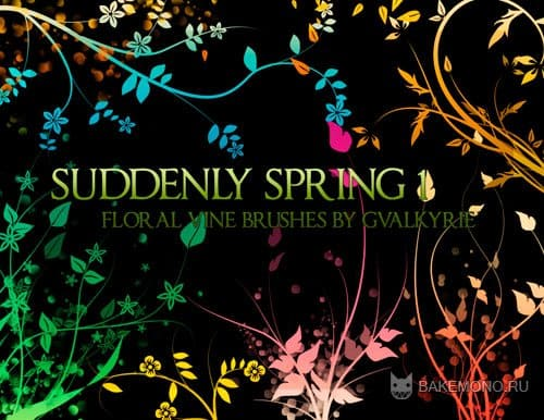 Скачать кисти для Photoshop - Suddenly Spring brushes