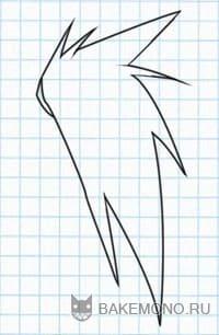 Рисуем Прямые волосы средней длины