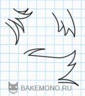 Учимся рисовать Пряди коротких прямых волос