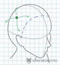 Рисуем волосы с боку