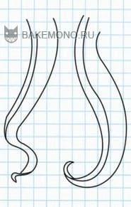 Рисуем Пряди длинных вьющихся волос