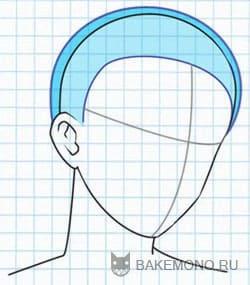 Рисуем волосы - Вид на три четверти