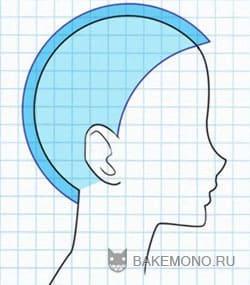 Рисуем волосы - Вид с боку