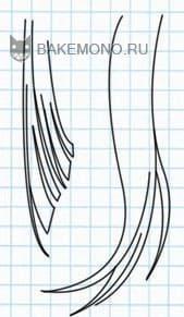 Рисуем Пряди длинных прямых волос