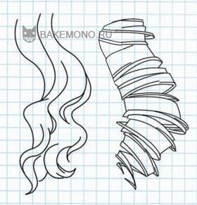 Рисуем Пряди длинных кучерявых волос