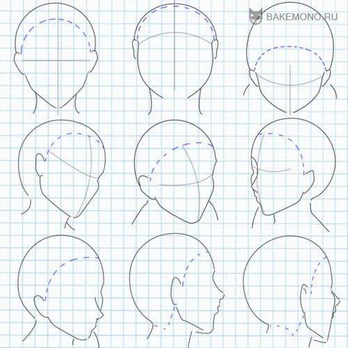 Рисуем волсы - поворот головы