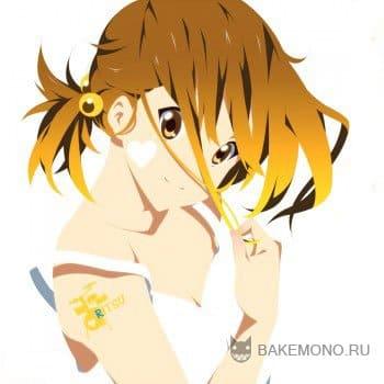 Аниме девочка с золотистыми волосами