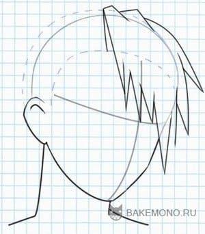 Мужские волосы аниме