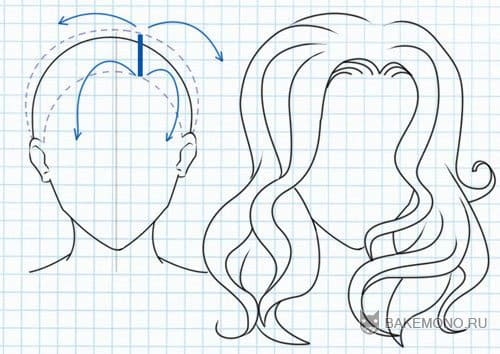 Как рисовать кудрявые волосы аниме