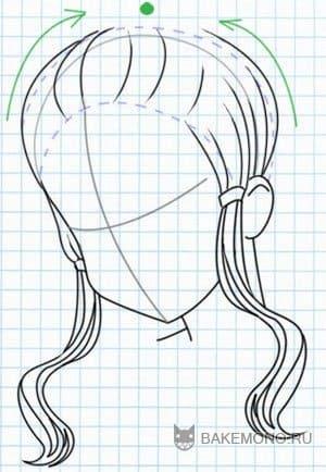 Как нарисовать прическу с челкой