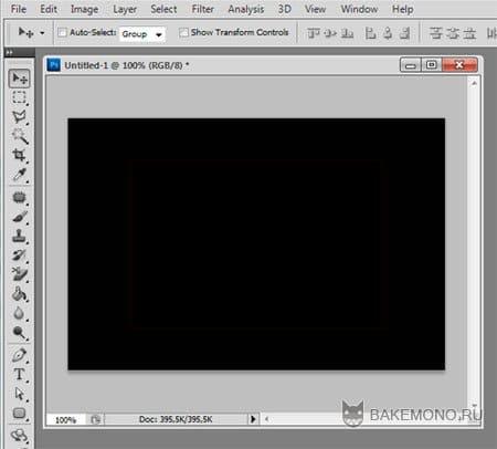 Создание нового документа в фотошопе
