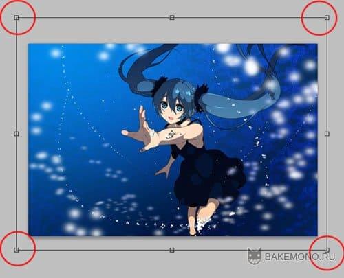 Девочка вокалоид в воде