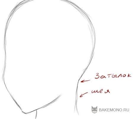 Итак, не ленясь, прорисовываем всю ...: bakemono.ru/lessons/paint-tool-sai/1299-paint-tool-sai-and-his...