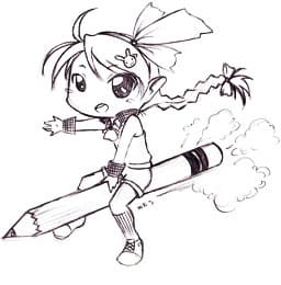Рисуем аниме карандашом