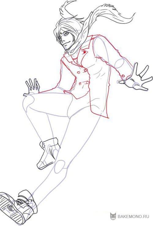 Как рисовать аниме парней.