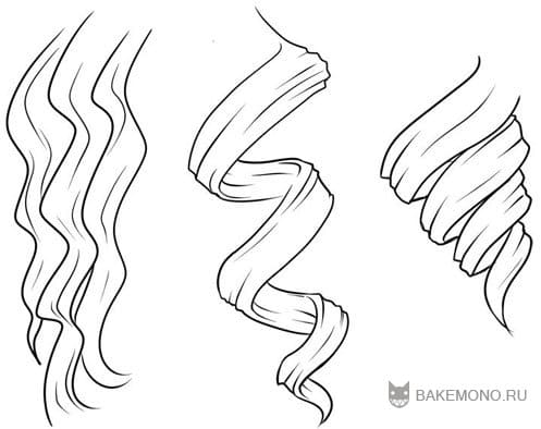 Как рисовать вьющиеся волосы