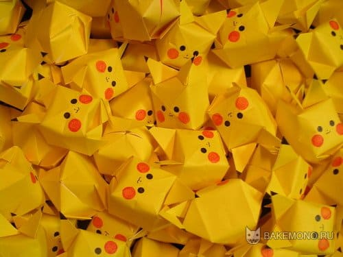 Создание маленьких оригами-