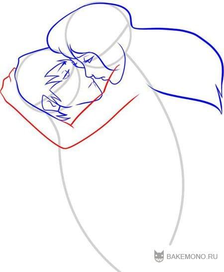 Шаг 9 теперь нарисуем плечо парня а