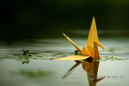 Как сделать оригами журавлика