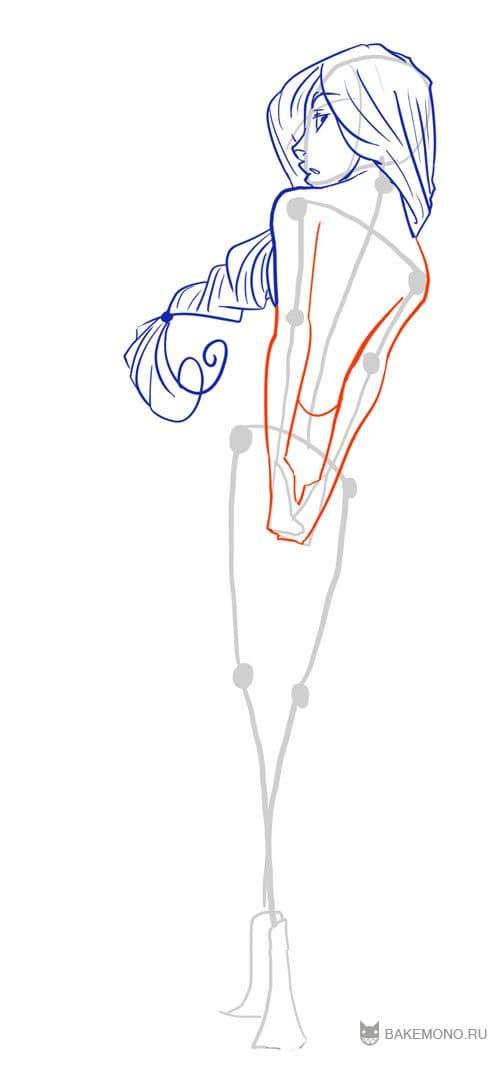 аниме девушки со спины: