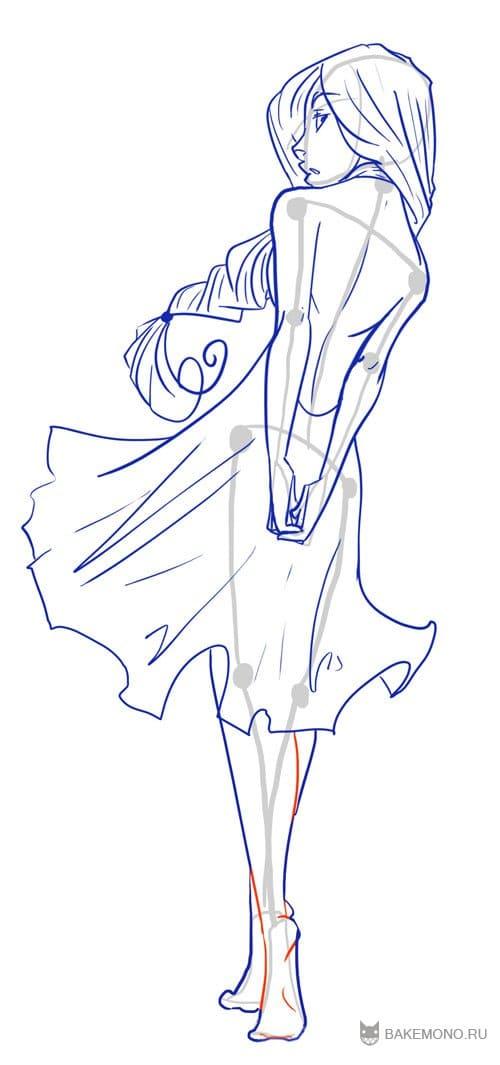 Как рисовать дельфина - d4f