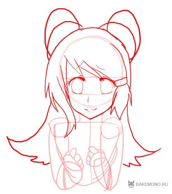 как рисовать аниме уши: