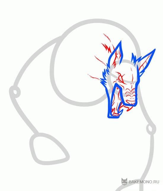 Как нарисовать аниме оборотня