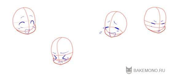 Как рисовать эмоции Чиби