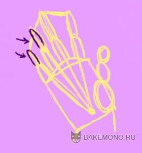Нарисован палец без добавления деталей, для объяснения