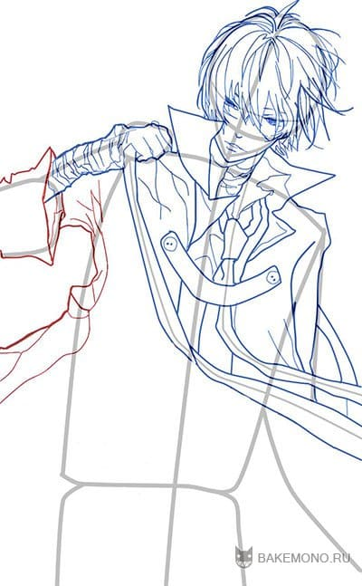 Как нарисовать аниме парня