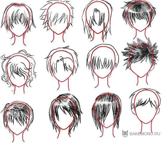 Вот некоторые примеры аниме причесок