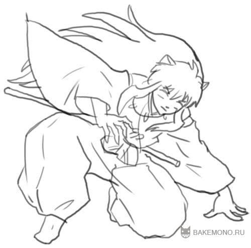 Как рисовать Инуяшу