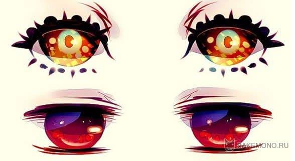 Идеи для покраски аниме глаз