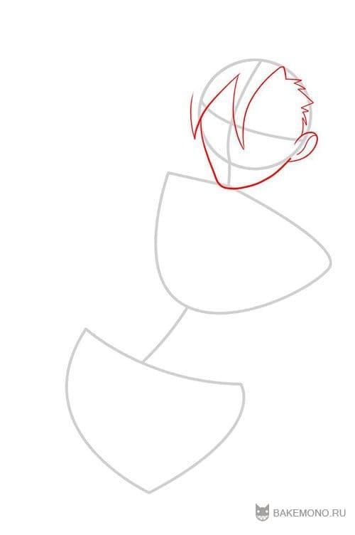нарисуйте форму лица Камина