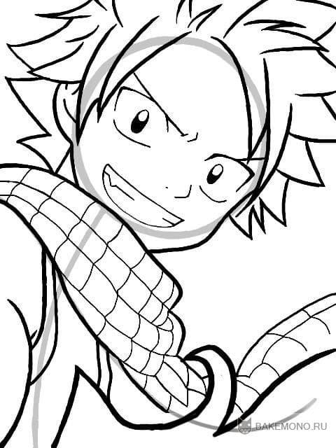 Как рисовать Нацу из аниме FairyTail