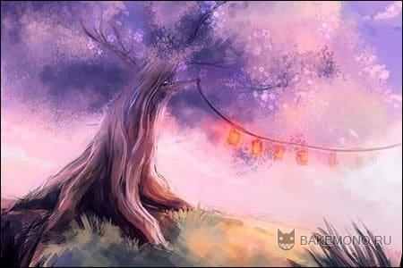 Как рисовать сакуру