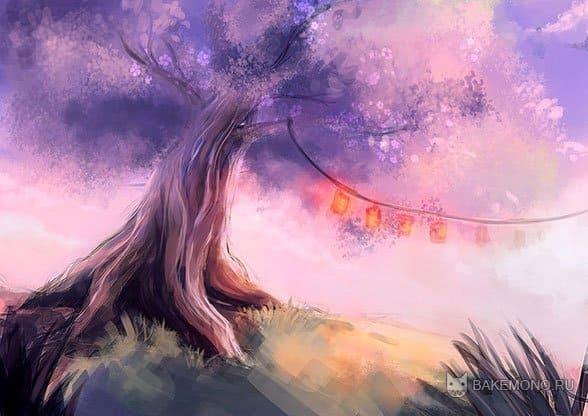 Как рисовать дерево сакуры