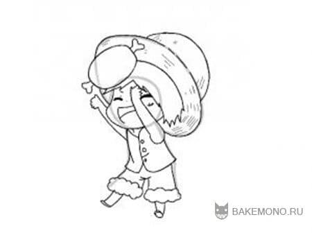 нарисуйте соломенную шляпу
