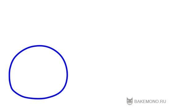 Нарисуйте круг для головы